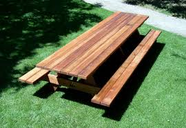 Plans For Wood Picnic Table by Long Wooden Picnic Tables Plans To Make A Wooden Picnic Tables