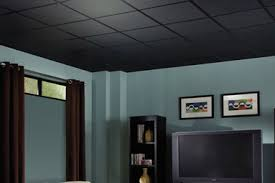 Black Ceiling Basement by Ceiling Tiles For Basement Basements Ideas