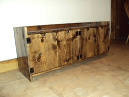 Rustic Wooden Bench With Storage Rustic Wooden Bench Home Improvement Design And Decoration