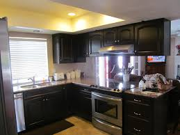 How To Paint Veneer Kitchen Cabinets Dark Brown Laminated Wooden Wall Mounted Kitchen Cream Color