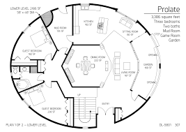 floor plans 3 bedrooms monolithic dome institute