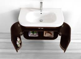 Modern Walnut Bathroom Vanity by Virtu Usa Marvella Single Sink 36