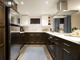 two tone grey kitchen cabinets dark color countertop dark grey