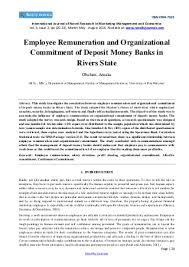 Organizational Commitment   LinkedIn Employee Remuneration and Organizational Commitment of Deposit Money Banks in Rivers State