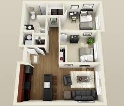 Floor Plan 2 Bedroom Apartment Two Bedroom Apartment Floor Plans 3d Apartments Pinterest