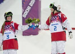 Montreal     s Dufour Lapointe sisters win gold  silver in moguls     Toronto Star Canada     s Justine Dufour Lapointe  right  celebrates with sister Chloe Dufour Lapointe after