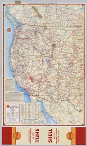 United States Map by Shell Highway Map Of Western United States David Rumsey