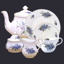 forget me not fine bone china english heirloom collection