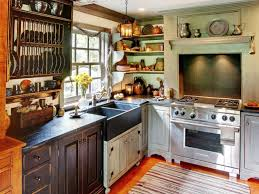 old red kitchen design rustic country kitchen curtains the small