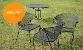 Mesh Patio Chairs by Vintage Metal Patio Chairs