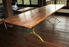 rustic round dining room tables brown lacquer finish oak wood