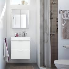 bathroom furniture ideas ikea small bathroom with grey shower white godmorgon washbasin and mirror cabinets summeln