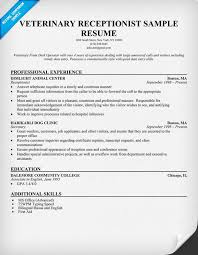 Sample Of Receptionist Resume by Veterinary Receptionist Resume Example Http Resumecompanion Com