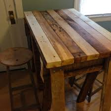 Tiled Kitchen Table by Wooden Kitchen Table