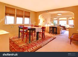 Dining Room Tables Seattle Dining Room Folk Design Warm Yellow Stock Photo 73795105
