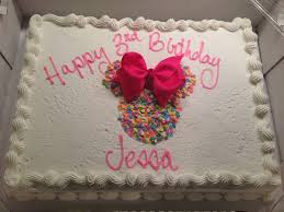 costco cake decorated at home minnie mouse birthday kid and