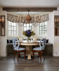 kitchen bay windows dining room traditional with modern chandeliers