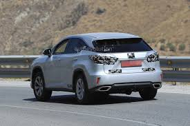 lexus suv with third row spyshots 2018 lexus rx facelift spied for the first time tokyo