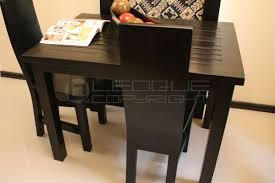 LUFETOO Seater Black Dining Table  Leoque Collection  One - Black dining table for 4