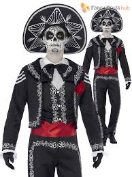 mens senor day of the dead costume halloween skeleton bond fancy