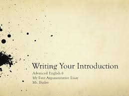 Writing Your Introduction Advanced English   My First     SlidePlayer