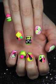 94 best neon nail art images on pinterest neon nail art neon