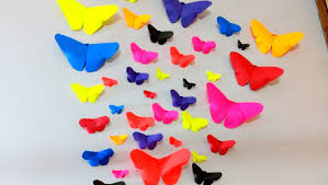 How To Decorate Walls by How To Make Paper Butterflies Wall Decor Diy Crafts Youtube