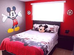 bedroom small mickey mouse bedroom ideas wih white bed also