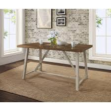 better homes and gardens collin wood and metal dining table