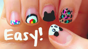 easy short nail art designs with tutorial video