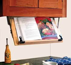 Kitchen Tv Under Cabinet by Amazon Com Under Cabinet Mounted Cookbook Holder Wood Made In