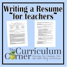 resume for teachers example resumes for teachers writing your       teacher resume tips happytom co