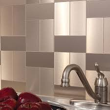 Aspect Peel And Stick Backsplash Tiles In Glass Stone And Metal - Peel on backsplash