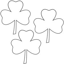 coloring download three leaf clover coloring page three leaf