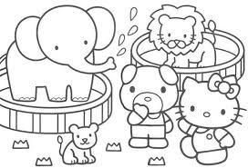 hello kitty coloring pages of circus coloring pages