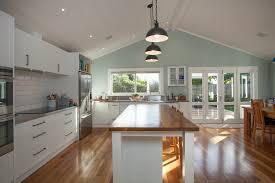 native timber floors and kitchen island 1900 u0027s villa renovation
