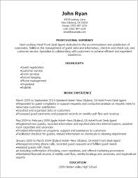 Resume Examples For Food Service by Professional Hotel Front Desk Agent Resume Templates To Showcase