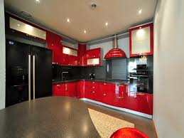Best Kitchen Interiors Red And Black Kitchen Designs Red Black Kitchen Cabinets Best