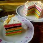 Rainbow cake . .. เค้กสายรุ้ง . .. พี่จะสูงไปไหนค๊าาบ ^.^