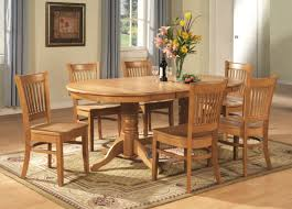 dining room wooden expandable dining table set with oval table on