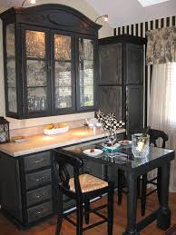 Antiqued Kitchen Cabinets by Black And White Distressed Kitchen Cabinets Kitchen Crafters