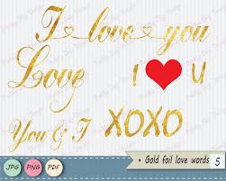 Card Invitation Valentine U0027s Gold Foil Words Clipart Gold Word Overlay Words Clip