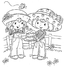 angel cake coloring pages strawberry shortcake coloring page