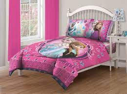 Full Size Bed In A Bag For Girls by Disney Frozen Nordic Florals Comforter Set With Fitted Sheet