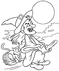 splendid coloring pages witches halloween witch coloring pages