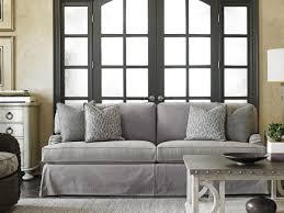 oyster bay stowe slipcover sofa gray lexington home brands