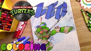 tmnt coloring page leonardo youtube
