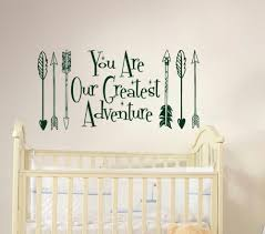 online get cheap wall decal arrow quote aliexpress com alibaba you are our greatest adventure arrow feather arrows quote wall decal vinyl sticker decals quotes art