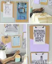 How To Make A Gallery Wall by How To Make A Clipboard Gallery Wall