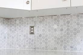 kitchen backsplash trim ideas how to install a marble hexagon tile backsplash just a and